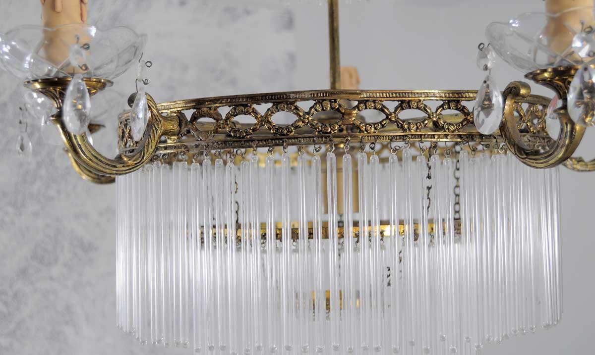 Lampara de techo estilo imperio con canetas lamparas - Lamparas de cristal antiguas ...