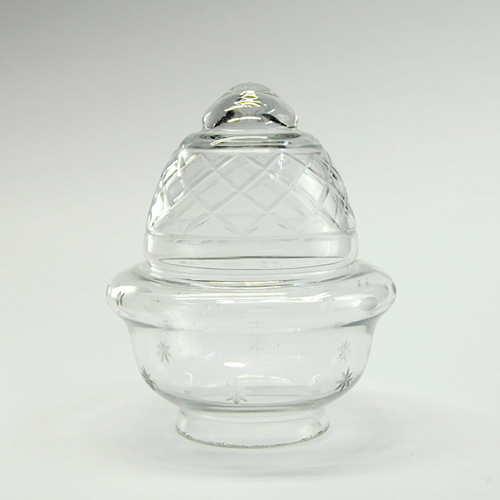 Tulipas talladas antiguas de cristal talladas de forma - Lamparas de cristal antiguas ...