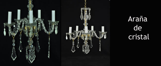 L mpara ara a de cristal n 34 lamparas cebria - Lamparas cristal antiguas ...
