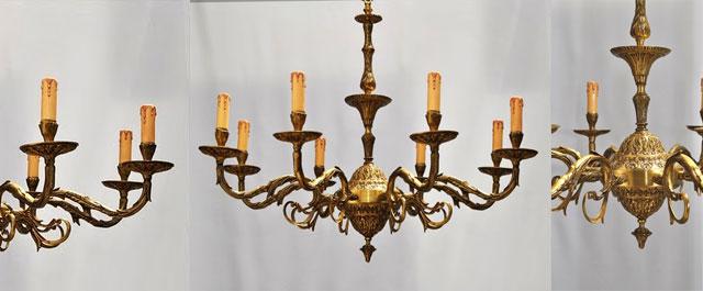 Lámpara de bronce nº 26 | Lamparas Cebria